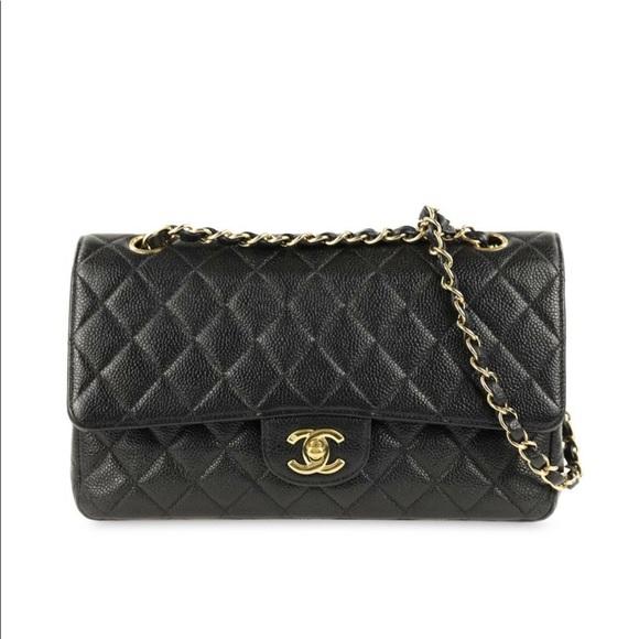 1dd648037a81 CHANEL Bags | Sold Black Caviar Classic Ml Double Flap | Poshmark